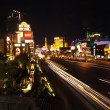 Strip in Las Vegas by night — Stock Photo