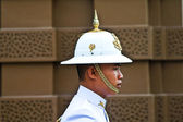 Parade of the kings Guards in the Grand Palace — Stock Photo