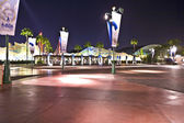 Exit of Disneyland in the night after the last show — Stock Photo