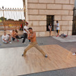 Young have fun by break dancing at Vienna Hofburg — Stock Photo