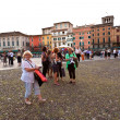 Visitors, spectators are waiting outside the arena di verona for — Foto Stock