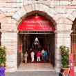 Visitors, spectators are waiting outside the arena di verona for - Stock Photo