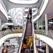 Modern architecture in the new shopping center Myzeil by archite - Zdjęcie stockowe