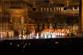 Performance of aida in the arena of verona — Stock Photo