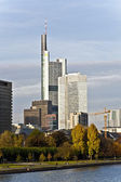 View to skyline of Frankfurt with Hauptwache and skyscraper — Stock Photo
