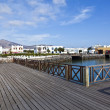 New harbor in Playa Blanca — Stock Photo
