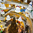Christmas Bells as decoration in the famous shopping mall Centra - Zdjęcie stockowe