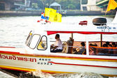 In a public ferry on river Mae Nam Chao Phraya — Stock Photo