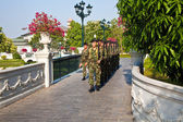 Soldier of the kings Guards in the Summer Palace Bang Pa In guar — Stock Photo