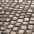 Old cobble stone street In Frankfurt — Stock Photo