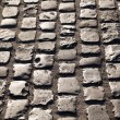 Old cobble stone street In Frankfurt — Stockfoto