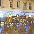 Horse-driven carriage at Stefansplatz in the heart of Vienna — Stock Photo