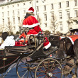 Horse drawn fiaker at the Hofburg for tourists in Vienna — Stock Photo #8892932