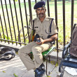 Policeman pays attention in the Red Fort to protects visitors — Stock Photo