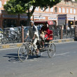 Cycle rickshaws in the streets — Stock Photo #8897037