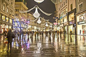 Famous Graben street by night — Stock Photo