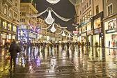 Beroemde graben straat per nacht — Stockfoto
