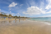 Enjoy the artifical Beach Playa Dorada — Стоковое фото
