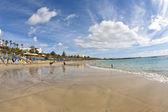 Enjoy the artifical Beach Playa Dorada — Stock Photo