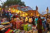 Au marché de meena bazaar à delhi, inde. — Photo