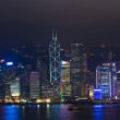 Hong Kong Harbor Laser Show to Skyline of Victoria — Zdjęcie stockowe