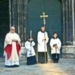 Постер, плакат: Bishop Franz Scharl is praying for the unborn child