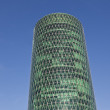 Westhafen tower in harbor arein Frankfurt — Stock Photo #8909133