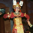 Female dancer is performing an indonesian dance - Stock Photo