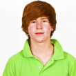 Attractive boy in puberty with red hair — Stock Photo