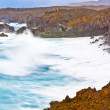 Coast at Los Hervideros with huge waves in Lanzarote — Stock Photo