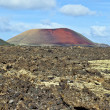 Volcanic landscape taken in Timanfaya National Park, Lanzarote, — Stock Photo #8926823