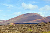 Volcanic landscape taken in Timanfaya National Park, Lanzarote, — Stock Photo