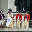 Ceremony for declaration of independence in old costumes — Stock Photo #8932204