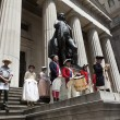 Ceremony for declaration of independence in old costumes — Stock Photo