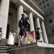 Stock Photo: Ceremony for declaration of independence in old costumes