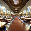 Stock Photo: Inside famous old New York Public Library