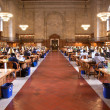 Inside famous old New York Public Library - Stock Photo