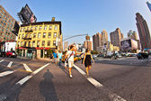 Downtown streetview at the east harbor side in late afternoon — Stock Photo