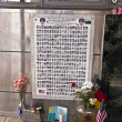 Poster in Memorial to brave Firemen which died in 911 — Stock Photo #8949676
