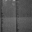 Names of Vietnam war casualties on Vietnam War Veterans Memorial - Stock Photo