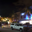 Night view at Ocean drive on in Miami Beach in the art deco dist — Stock Photo #8954085