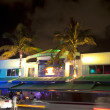 Night view at Ocean drive on in Miami Beach in the art deco dist — Stock Photo #8954147