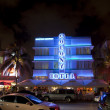 Night view at Ocean drive on in Miami Beach in the art deco dist — Stock Photo #8954462