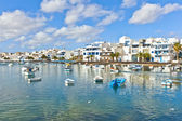 Charco de San Gines, the laguna at the city of Arrecife, capital — Stock Photo