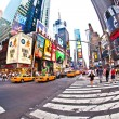 Stock Photo: Times Square, featured with Broadway Theaters and huge number of LED signs,