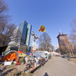 The protest camp of the Occupy Frankfurt movement at the Europe — Stock Photo