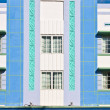 Midday view at Ocean drive in Miami Beach with Art Deco architec -  