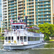 Cruise with Carrie B paddlewheel riverboat in Fort Lauderdale — Stock Photo
