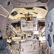 Inside the spaceship discovery with view to the control panel — Stock Photo