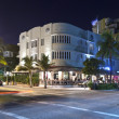 Night view at Ocean drive in Miami South art deco district — Stock Photo #9079884